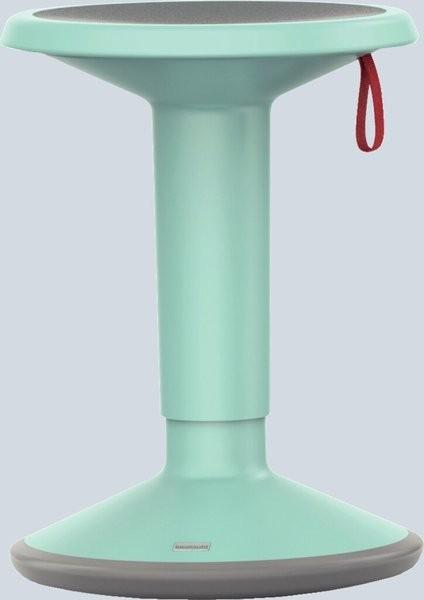 Hocker upis1, höhenverstellbar, pastelltürkis, Maße BxH