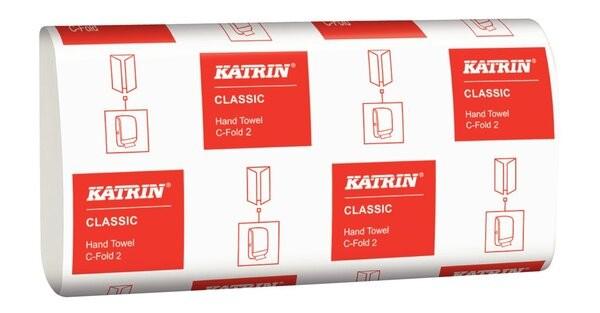 Falthandtuch Katrin Classic CFold 2 3000 Bl., 2-lg. weiß 24,0 x 33cm