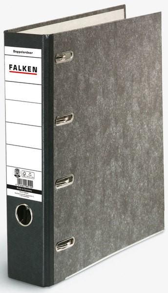 Falken Doppel-Schlitzordner A4 Wolkenmarmor Rückenbreite 70mm