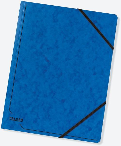 Eckspanner A4 355g Colorspan-Karton mit praktischen Gummizügen blau