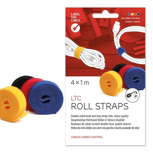 Klettbandrolle Roll, 16mm x 1m, sortiert, doppelseitig, zum Bündeln