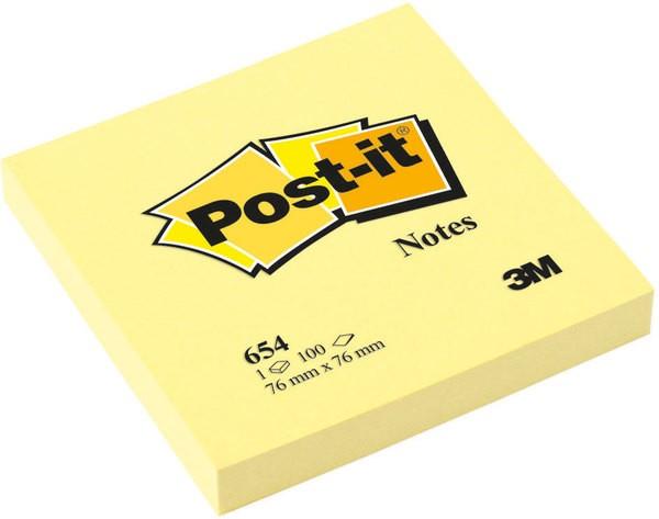 Haftnotiz Post-it 100 Blatt gelb 76x76mm