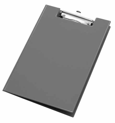 Clipboard A4 grau
