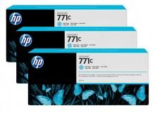 Tintenpatrone 771C hell cyan 3er-Pack, Standardkapazität 3x775ml