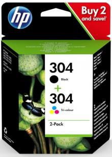 Multipack Tintenpatrone 304 schwarz dreifarbig für DJ 3720, 3721, 3722