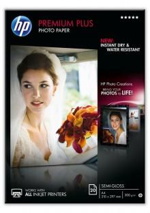 Fotopapier Premium Plus A4 300g weiß semi-gloss