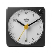Quarzwecker schwarz/weiß, Uhrwerk leise und präzise, leuchtende Zeiger