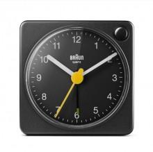 Quarzwecker schwarz, Uhrwerk leise und präzise, leuchtende Zeiger