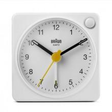 Quarzwecker weiß, Uhrwerk leise und präzise, leuchtende Zeiger