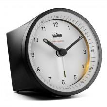 Funkwecker schwarz/weiß, präzises Uhrwerk, leuchtende Zeiger, Crescendo-