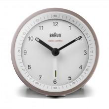 Funkwecker pink-weiß, präzises Uhrwerk, leuchtende Zeiger, Crescendo-