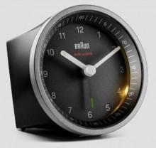 Funkwecker silber/schwarz, präzises Uhrwerk, leuchtende Zeiger, Crescendo-