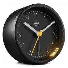 Quarzwecker schwarz, Uhrwerk leise und präzise, Crescendo-Alarm
