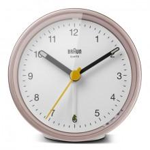 Quarzwecker pink-weiß, Uhrwerk leise und präzise, Crescendo-Alarm
