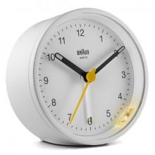 Quarzwecker weiß, Uhrwerk leise und präzise, Crescendo-Alarm