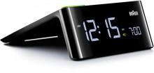 LED-Wecker, schwarz, hochwertiges Quarzwerk, Touch-Snoozefunktion