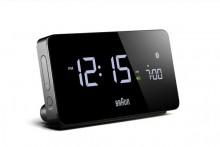Bluetooth-Wecker schwarz, kompatibel mit iOS/Android, mehrere Alarme