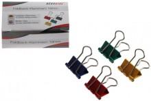 Büroring Foldbackklammern, farbig, vernickelt 19mm lang