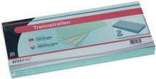 Trennstreifen blau, Sondermaß 105x228cm, 190g/qm Karton, gelocht