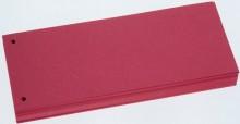 Trennstreifen rot, Sondermaß 105x228cm, 190g/qm Karton, gelocht