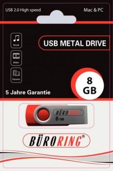 Speicherstick, USB 2.0 mit drehbarer Metall-Abdeckung