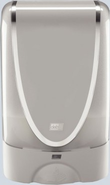 Deb TouchFree Spender Chrom, für 1,2 Liter-Kartusche,Ersatz: schwarz