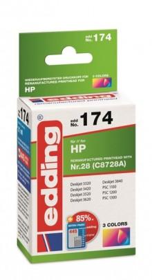 Edding Tinte 174 HP 28 farbig Ersetzt: HP C8728A, No.28