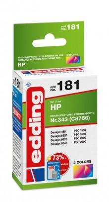 Edding Tinte 181 HP 343 farbig Ersetzt: HP C8766, No.343