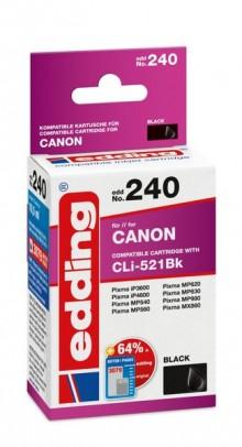 Edding Tinte 240 Canon CLI-521 photo black, Ersetzt: Canon CLI-521BK