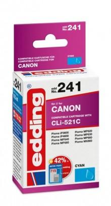 Edding Tinte 241 Canon CLI-521 cyan Ersetzt: Canon CLI-521C