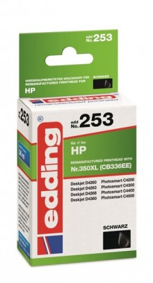 Edding Tinte 253 HP 350XL black Ersetzt: HP CB336EE, No.350XL