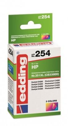 Edding Tinte 254 HP 351XL farbig Ersetzt: HP CB338EE, No.351XL