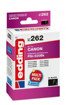 Edding Tinte 262 TwinPack Canon PGI-520 black, Ersetzt: Canon