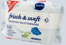 Toilettenpapier feucht Nachfüllpack sensitiv, 2 x 70 Tücher #09451205