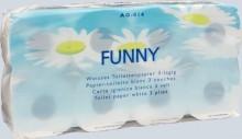 "Toilettenpapier ""Funny"" 3-lagig Zellstoffpapier mit Motivprägung"