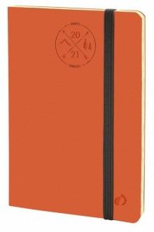 Wochenkalender 1W/2S orange, Hori- zontal 24 SD, 2-farbig rot/grau