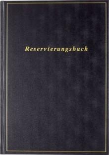 Buchkalender A4 Reservierung 21x29,7cm, schwarz, 2021