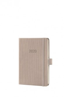 Wochenkalender Conceptum 1W/2S, 2021, A6, 108x151x19mm, taupe