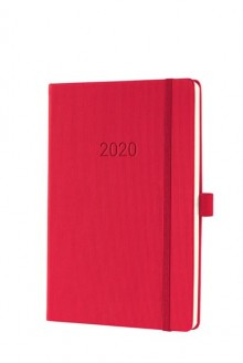 Wochenkalender Conceptum 1W/2S, 2020, A5, 148x213x20mm, red