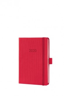 Wochenkalender Conceptum 1W/2S, 2020, A6, 108x151x19mm, red