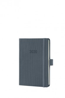 Wochenkalender Conceptum 1W/2S, 2020, A6, 108x151x19mm, dark grey