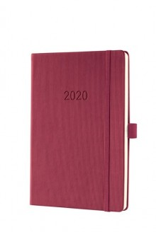 Wochenkalender Conceptum 1W/2S, 2020, A5, 148x213x20mm, rosewood red