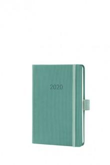 Wochenkalender Conceptum 1W/2S, 2020, A6, 108x151x19mm, jade green