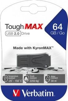 Speicherstick USB 2.0 64 GB ToughMAX, schwarz, Lese: bis 12 MB/s, Schreib: