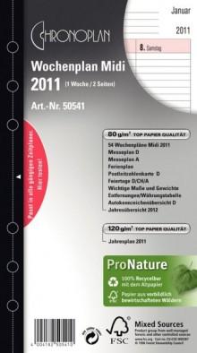 Chronoplan Wochenplan Midi 2021 1 Woche/2 Seiten Anordnung in Spalten
