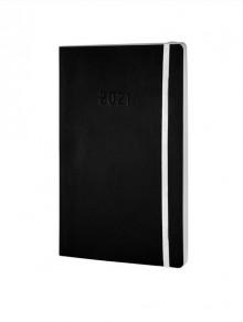 Chronobook Wochenplan A5 2021 1 Woche/2 Seiten, schwarz,