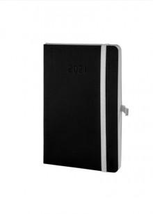 Chronobook Wochenplan Mini 2021 1 Woche/2 Seiten, schwarz,