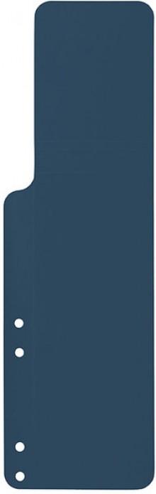 Aktenfahnen lang, dunkelblau, gelocht und genutet, mit Seitenfalz,