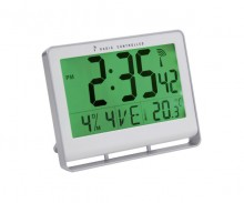 Funkgesteuerte Uhr, LCD, 200x150x30mm Uhrzeit, Datum, Wochentag, Temperatur