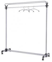 Garderobenwagen, mobil, 4 Rollen grau/schwarz, Stahl, 150x50x170 cm